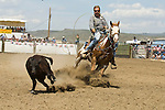Calf roping at the Jordan Valley Big Loop Rodeo..