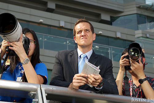 South China Morning Post racing correspondent Michael Cox at the Hong Kong Jockey Club's Shatin Racecourse.