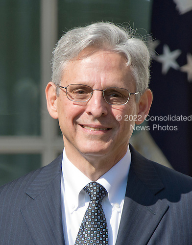 Judge Merrick Garland, chief justice for the US Court of Appeals for the District of Columbia Circuit, listens as United States President Barack Obama introduces him as his nominee to replace the late Associate Justice Antonin Scalia on the U.S. Supreme Court in the Rose Garden of the White House in Washington, D.C. on Wednesday, March 16, 2016. <br /> Credit: Ron Sachs / CNP