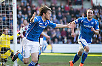 Hearts v St Johnstone&hellip;19.03.16  Tynecastle, Edinburgh<br />Murray Davidson celebrates his second goal<br />Picture by Graeme Hart.<br />Copyright Perthshire Picture Agency<br />Tel: 01738 623350  Mobile: 07990 594431