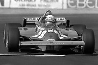 LAS VEGAS, NV - OCTOBER 17: Didier Pironi drives the Ferrari F126CK 049B/Ferrari 021 during the Caesar's Palace Grand Prix FIA Formula One World Championship race on the temporary circuit in Las Vegas, Nevada, on October 17, 1981.