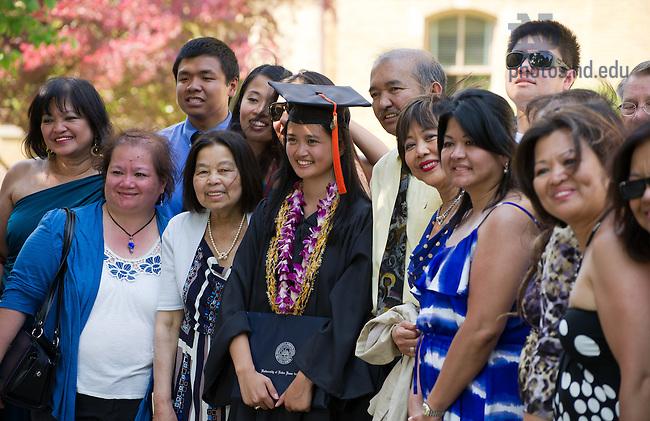 May 20, 2012; Graduates and families pose for photos, Commencement 2012...Photo by Matt Cashore/University of Notre Dame