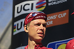 Tony Martin (GER) Team Katusha on stage at sign on before the start of Gent-Wevelgem in Flanders Fields 2017, running 249km from Denieze to Wevelgem, Flanders, Belgium. 26th March 2017.<br /> Picture: Eoin Clarke | Cyclefile<br /> <br /> <br /> All photos usage must carry mandatory copyright credit (&copy; Cyclefile | Eoin Clarke)