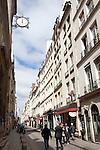 People strolling on Rue Saint-Louis en L'ile, Ile Saint-Louis, Paris, France