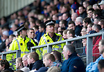 St Johnstone v Rangers....05.04.11 .Tayside Police Officers in amongst the Rangers fans.Picture by Graeme Hart..Copyright Perthshire Picture Agency.Tel: 01738 623350  Mobile: 07990 594431