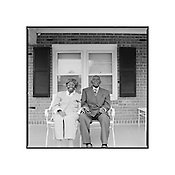 "Herbert and Zelmyra Fisher, Married since May 13, 1924, the World Record for Longest Marriage for a Living Couple, New Bern, North Carolina, 2009 | D.L. Anderson | $600 | Limited Edition 1 of 5 | Print - 34x34"" Crane Museo Silver Rag Archival Inkjet 