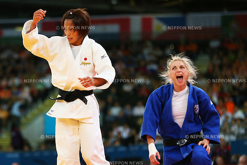 (L to R) Kaori Matsumoto (JPN), Automne Pavia (FRA), .JULY 30, 2012 - Judo : .Women's -57kg Semi-final .at ExCeL .during the London 2012 Olympic Games in London, UK. .(Photo by Daiju Kitamura/AFLO SPORT) [1045]..