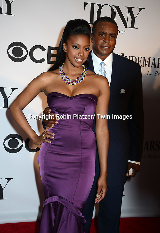 Condola Rashad and dad Ahmed Rashid attend the 67th Annual Tony Awards on Sunday, June 9th at Radio City Music Hall in New York City.