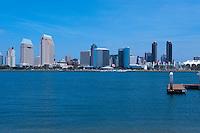 San Diego, Skyline, Coronado Island, Ferry Landing,  California