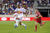 Roy Miller (7) of the New York Red Bulls. The New York Red Bulls and the Chicago Fire played to a 2-2 tie during a Major League Soccer (MLS) match at Red Bull Arena in Harrison, NJ, on August 13, 2011.