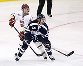 Alison Szlosek (BC - 8), Sarah Cuthbert (UNH - 14) - The Boston College Eagles and the visiting University of New Hampshire Wildcats played to a scoreless tie in BC's senior game on Saturday, February 19, 2011, at Conte Forum in Chestnut Hill, Massachusetts.