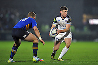 George Ford of Bath Rugby looks to pass the ball. European Rugby Champions Cup match, between Leinster Rugby and Bath Rugby on January 16, 2016 at the RDS Arena in Dublin, Republic of Ireland. Photo by: Patrick Khachfe / Onside Images