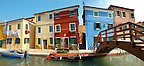 Colorful houses, Fondementi Pontinella Destro, Burano Venice Italy