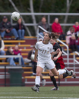 Boston College forward Alaina Beyar (17) heads the ball back to keeper. Boston College defeated North Carolina State,1-0, on Newton Campus Field, on October 23, 2011.