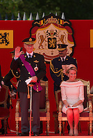 The Royal Belgian family attends the Civil & Military Parade - Belgium