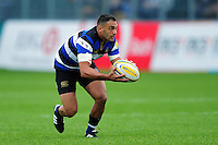 Dan Bowden of Bath Rugby in possession. Aviva Premiership match, between Bath Rugby and Worcester Warriors on September 17, 2016 at the Recreation Ground in Bath, England. Photo by: Patrick Khachfe / Onside Images