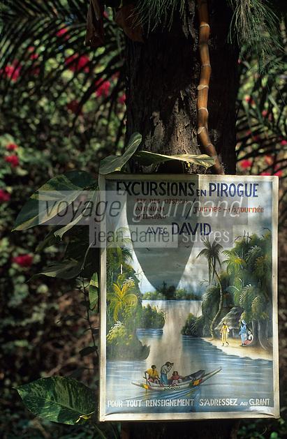 Afrique/Afrique de l'Ouest/Sénégal/Basse-Casamance/Ziguinchor : Affiche excursion en pirogue