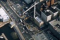1986 January ..Redevelopment.Downtown South (R-9)..TOWN POINT CENTER.CONSTRUCTION PROGRESS...NEG#.NRHA#..