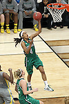 03 APR 2012: Skylar Diggins (4) of the University of Notre Dame goes in for a layup during the Division I Women's Basketball Championship held at the Pepsi Center in Denver, CO. Matt Marriott/NCAA Photos