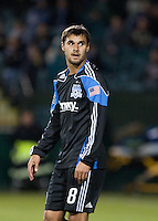 Chris Wondolowski after being issued a yellow card. The San Jose Earthquakes tied Toronto FC 1-1 at Buck Shaw Stadium in Santa Clara, California on April 9th, 2011.
