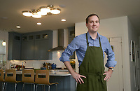 NWA Democrat-Gazette/BEN GOFF @NWABENGOFF<br /> Matt McClure, executive chef of The Hive restaurant at 21c Museum Hotel, poses for a photo Sunday, April 2, 2017, at his home in Bentonville.