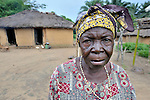 A woman in the Congolese village of Minga.
