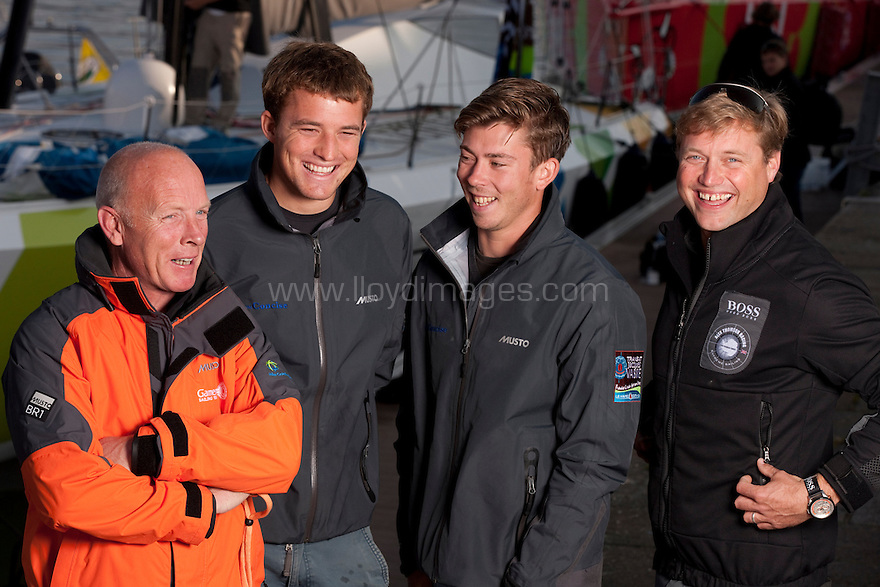 Transat Jacques Vabre 2011. Le Havre. France.Pictures of L/R Mike Golding, Ned Collier, Samgoodchild and Alex Thomson prior to the start of the race tomorrow