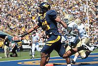 Keenan Allen scores a touchdown. The University of California Berkeley Golden Bears defeated the UC Davis Aggies 52-3 in their home opener at Memorial Stadium in Berkeley, California on September 4th, 2010.