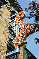 The Ovaltine Cafe neon sign, East Hastings Street,, Vancouver, BC, Canada