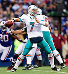 29 November 2009: Miami Dolphins' quarterback Chad Henne in action against the Buffalo Bills at Ralph Wilson Stadium in Orchard Park, New York. The Bills defeated the Dolphins 31-14. Mandatory Credit: Ed Wolfstein Photo