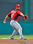 6 March 2012: Washington Nationals pitcher Gio Gonzalez on the mound during a Spring Training game against the Atlanta Braves at Champion Park in Disney's Wide World of Sports Complex, Orlando, Florida. The Nationals defeated the Braves 5-2 in Grapefruit League action. Mandatory Credit: Ed Wolfstein Photo