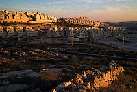 East Jerusalem, 23 Nov 2009.The huge new Har Homa settlement in East Jerusalem almost completes the encirclement of the city, including its eastern part, by the Israelis, in contravention to numerous UN resolution and international laws.