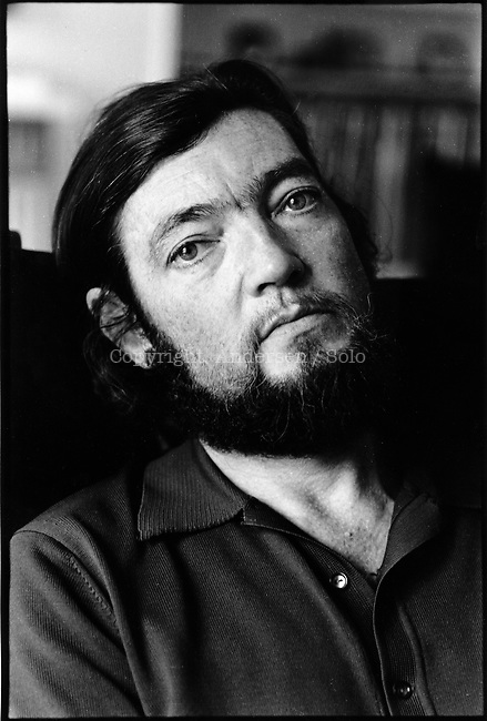 Julio Cortazar ( 1914-1984 ) at home in Paris on november 27, 1978.