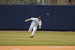 Ole Miss right fielder Matt Smith makes a catch vs. Louisiana-Monroe at Oxford-University Stadium in Oxford, Miss. on Sunday, February 21, 2010. Ole Miss won 13-2.