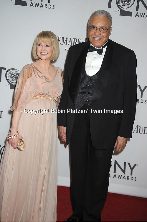 James Earl Jones and wife Celia Hart attends th 66th Annual Tony Awards on June 10, 2012 at The Beacon Theatre in New York City.