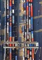 DUSS-Terminal Hamburg-Billwerder: EUROPA, DEUTSCHLAND, HAMBURG, (EUROPE, GERMANY), 11.11.2016: Deutsche Umschlaggesellschaft Schiene–Straße (DUSS) mbH, Terminal Hamburg-Billwerder ist eine wichtige Schnittstelle für den Umschlag von Ladeeinheiten zwischen Strasse und Schiene sowie im nationalen und internationalen Umsteigeverkehr zwischen Gueterzuegen.