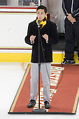 Boston College junior Will Sutton sang his version of the national anthem. - The Boston College Eagles defeated the visiting University of Maine Black Bears 4-0 on Friday, November 19, 2010, at Conte Forum in Chestnut Hill, Massachusetts.