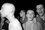 Skinheads in Camden Town at The Electric Ballroom dancing to   UB40. London 1980.
