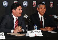 WASHINGTON, DC-JULY 10,2012:  Jason Levien with Will Chang during a D.C. United ownership press conference at the POV Lounge in the W Hotel, Washington, DC.