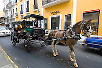 Horse and buggy ride<br /> Street scenes from Old San Juan<br /> Puerto Rico
