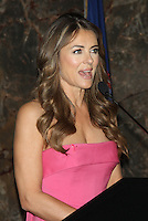 OCT 01 Elizabeth Hurley Lights The Empire State Building Pink For Breast Cancer Awareness