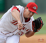 Starting pitcher Reed Reilly of the Greenville Drive in a game against the Asheville Tourists on Friday, April 24, 2015, at Fluor Field at the West End in Greenville, South Carolina. (Tom Priddy/Four Seam Images)