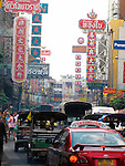 Traffic in China Town - Bangkok, Thailand