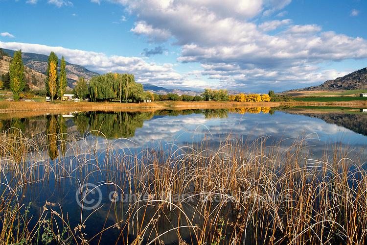 Deadman Lake near Osoyoos, BC, South Okanagan Valley, British Columbia, Canada, Autumn