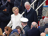 Former United States Secretary of State Hillary Rodham Clinton and her husband, former US President Bill Clinton arrive for the swearing-in ceremony as Donald J. Trump is sworn-in as the 45th President of the United States on the West Front of the US Capitol on Friday, January 20, 2017.<br /> Credit: Ron Sachs / CNP<br /> (RESTRICTION: NO New York or New Jersey Newspapers or newspapers within a 75 mile radius of New York City)