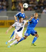 CARSON, CA - August 31, 2013: LA Galaxy vs San Jose Earthquakes match at the StubHub Center in Carson, California. Final score, LA Galaxy 3, San Jose Earthquakes  0.