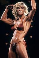 Atlantic City, April 24 1981. Georgia Fudge at  the World Body Building Championships.