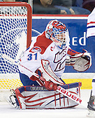 Doug Carr (Lowell - 31) - The visiting Minnesota State University-Mankato Mavericks defeated the University of Massachusetts-Lowell River Hawks 3-2 on Saturday, November 27, 2010, at Tsongas Arena in Lowell, Massachusetts.
