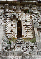 Detail of ornamentation, Governor?s Palace, Puuc architecture, Uxmal late classical Mayan site, 900-1000 AD, Yucatan, Mexico Picture by Manuel Cohen