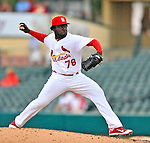 3 March 2011: St. Louis Cardinals' pitcher Maikel Cleto in action during a Spring Training game against the Washington Nationals at Roger Dean Stadium in Jupiter, Florida. The Cardinals defeated the Nationals 7-5 in Grapefruit League action. Mandatory Credit: Ed Wolfstein Photo